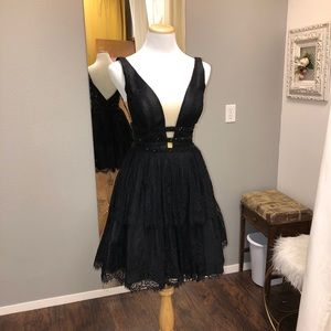 Sherri Hill Black Cocktail